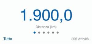 Il 14 maggio 2014, Andrea ha corso i suoi primi 1900. Gliene mancano 100 per arrivare a 2000.  Questo significa che domani ricomincerà da zero.